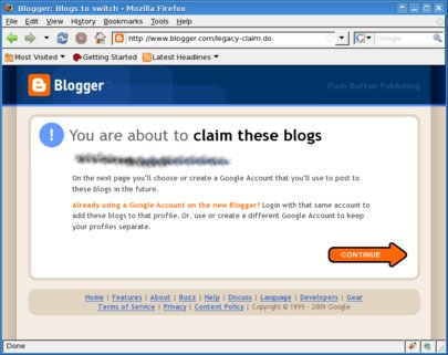 Claim blogs page